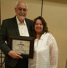 Ron Hoppe pictured with his wife Edwina, was inducted into the Washington State USBC Hall of Fame on June 25, 2016